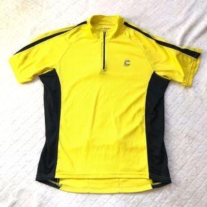 Cannondale short sleeve yellow black bike shirt/M